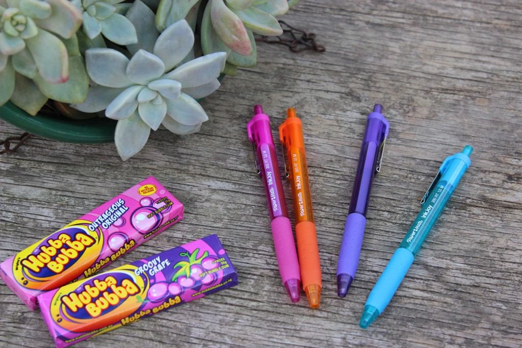 pens and bubblegum